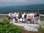 Those who gathered at the Overlook to honor our departed classmates